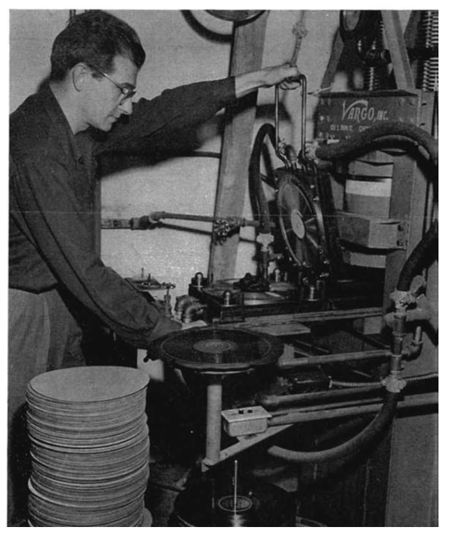Ed Conley cutting polyester records